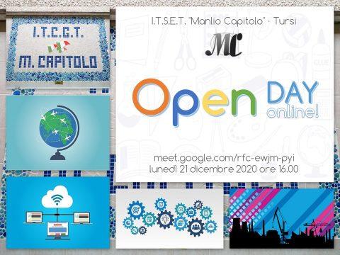 """Open day online al """"Manlio Capitolo"""""""